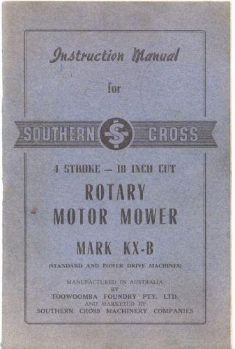 Manuals Mowers