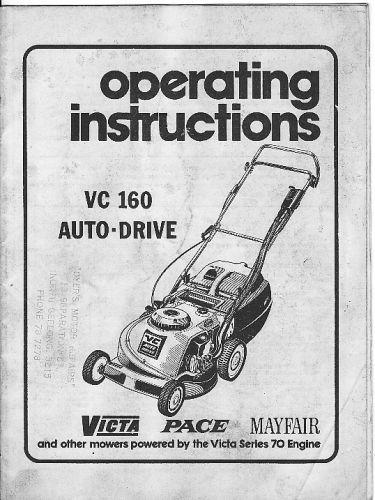 VictaVC160 OP manuals mowers